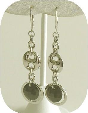 Stylish Black Cubic Zirconia Hanging Earrings