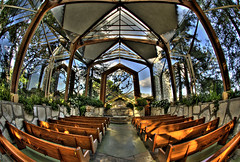 Wayfarers Chapel (Nick  Carlson) Tags: pictures california photography photo photos pics carlson nick picture pic fisheye hdr highdynamicrange verdes palos hdri palosverdes wayfarerschapel ranchopalosverdes tonemapped glasschurch nickcarlson truelifeimages nickcarlsonphotography