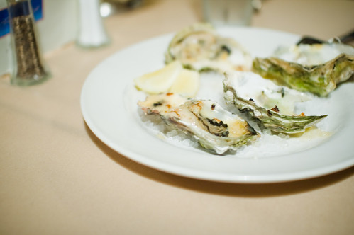 Broiled Oysters with Garlic Butter Sauce