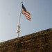 American Flag over Fort Macon