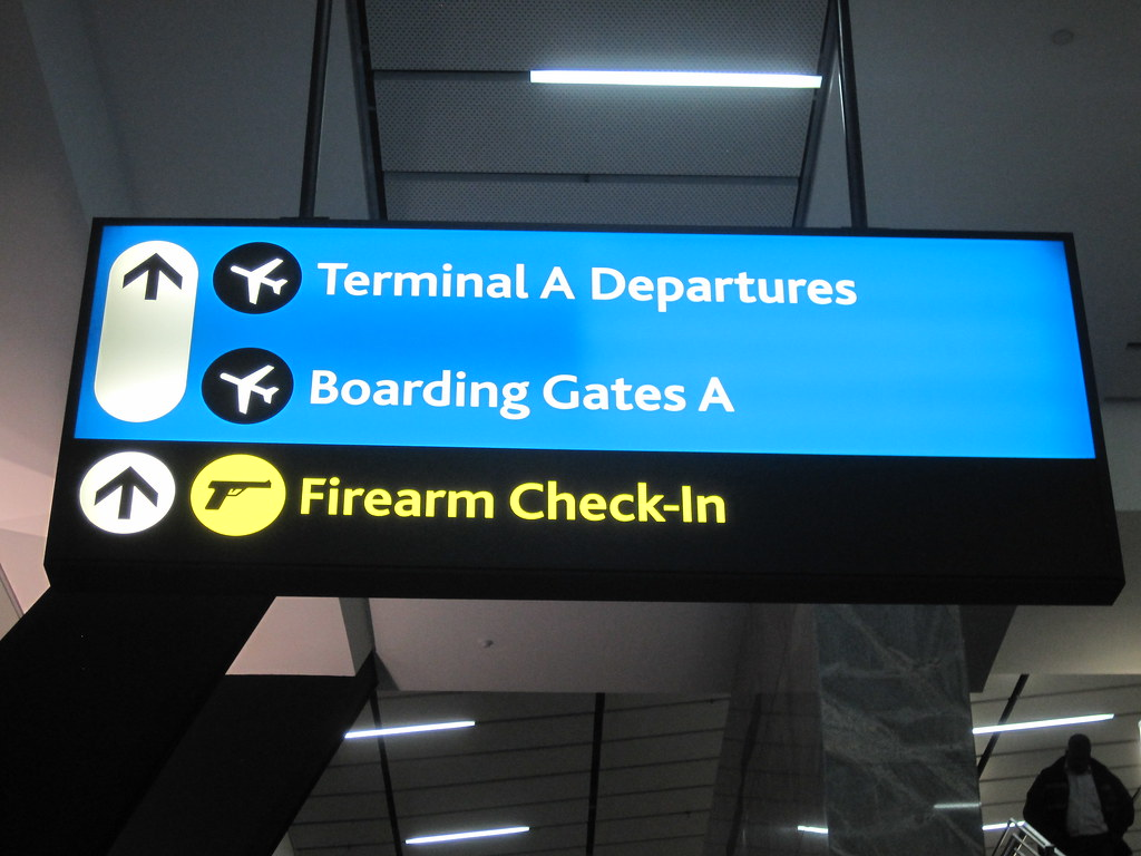 Firearm Check-in at Johannesburg Airport JNB in South Africa