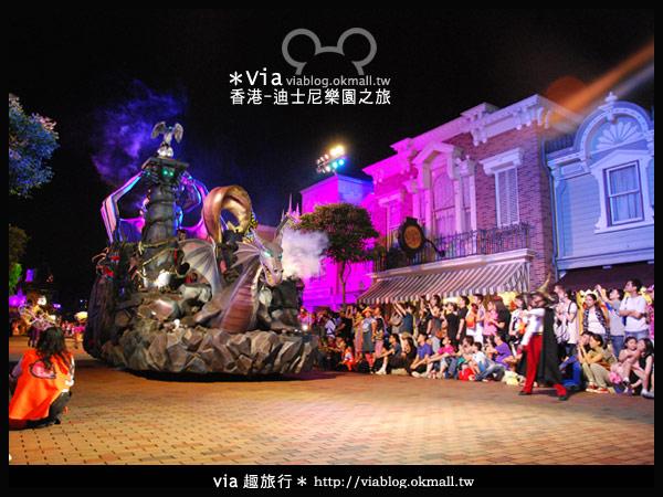 【香港旅遊】跟著via玩香港(2)~迪士尼萬聖節夜間遊行超精彩!12