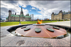 Flamme du centenaire | Centennial Flame (Guylaine Begin - PhotosNature) Tags: ontario canada fountain cityscape ottawa flame shield 100 parlement flamme 74 fontaine hdr 1000 108 centennialflame 1867 centreblock 1454 paysageurbain cusson collineduparlement perliament confdration hdrtonemapped capitalofcanada flammeducentenaire dificeducentre capitaleducanada dificedelouest perliamenthill thewestblock