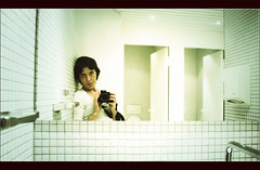 Asepsis (...cathzilla) Tags: white selfportrait cold mirror closed autoportrait interior room vertigo brain basel jail inside anonymous toilets claustrophobic tinguelymuseum asepsis