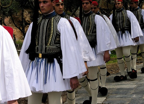 Greek Honour Guard for the Acropolis