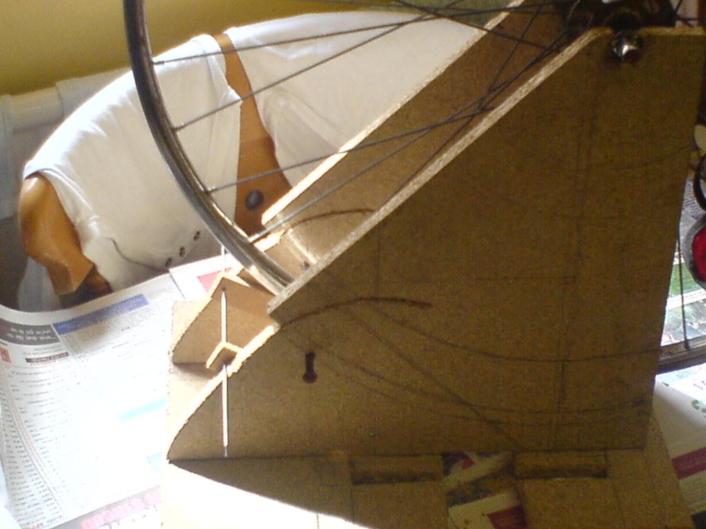 My homemade wheel truing stand