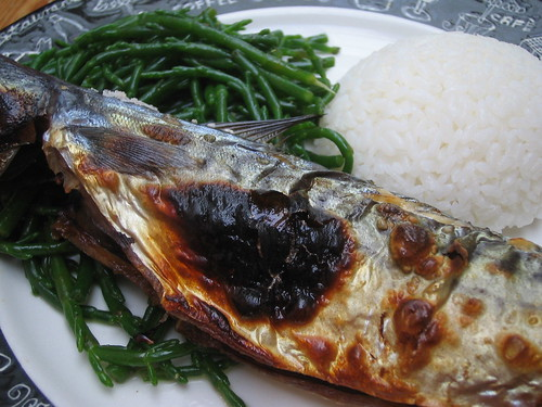 samphire and grill mackerel