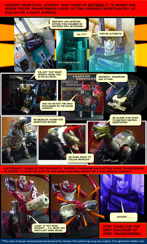 Sixshot discovers Autobots - part 1