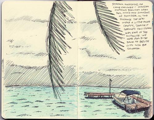 Belize Sketchbook Pages 9 & 10