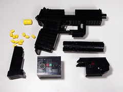 All Parts (Ble Star) Tags: metal magazine gun lego gear slide cock 45 pistol round laser flashlight 23 bullet handgun ammo lam module solid koch socom aiming silencer heckler ammuntion mk23