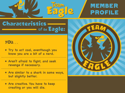 Team Eagle member - Eagle vs. Shark