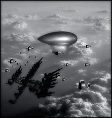 Omega Squadron : Enemy HQ (john_bolin2002) Tags: blackandwhite me photoshop airplane funny sweden metallic scifi hq futuristic enemy bmovie meanwhile wtfw photoshoproyalty