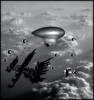 Omega Squadron : Enemy HQ (john_bolin2002) Tags: blackandwhite me photoshop airplane funny sweden metallic scifi hq futuristic enemy bmovie meanwhile wtfw photoshoproyalty