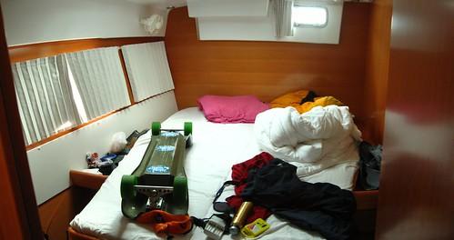 My berth on the Lagoon 420 sailing catamaran (San Miguel, Tenerife, Canary Islands)