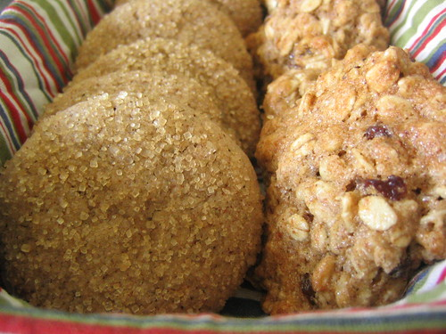 Sparkled Ginger Cookies and Oatmeal Cookies