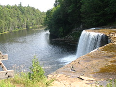 rim of Tahquamenon Falls, water low (daverockwood) Tags: tahquamenonfalls uppermichigan