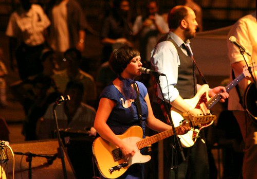 Camera Obscura in concert at the South Street Seaport