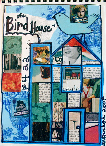 """The Bird House"" journal page (8.07)"