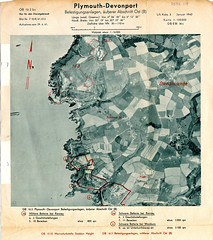 Renney and Wembury : Jan 1942 (Plymouth Libraries) Tags: cornwall map aircraft nazi plymouth aerial devon photograph german target bomb blitz bombing reich devonport secondworldwar stonehouse luftwaffe plymstock saltash torpoint