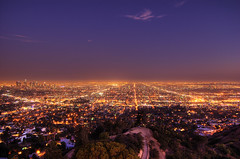 Los Angeles at Night (AlphaProject) Tags: california city longexposure sky usa night lights losangeles nikon downtown cityscape dusk ciel socal nikkor griffithpark griffithobservatory lightpollution urbanlife staplecenter griffithparkobservatory griffthpark superaplus aplusphoto