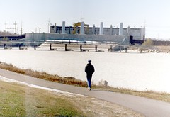 12-23-89 Lake Pontchartrain half mile west of Williams boat launch photo by J Pilet (pilet.foto.man) Tags: frozenlake