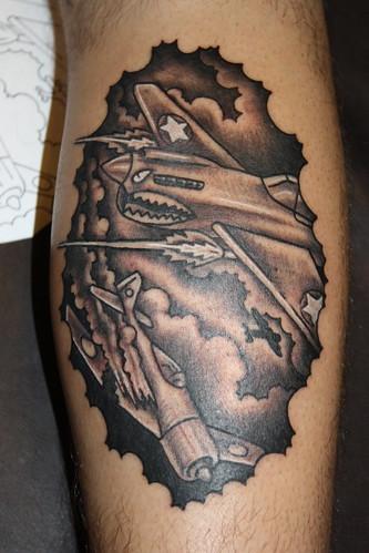 WW11 dog fight tattoo by Hubba Hubba Tattoo