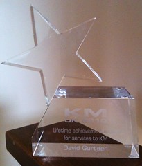 Lifetime achievement award for services to KM
