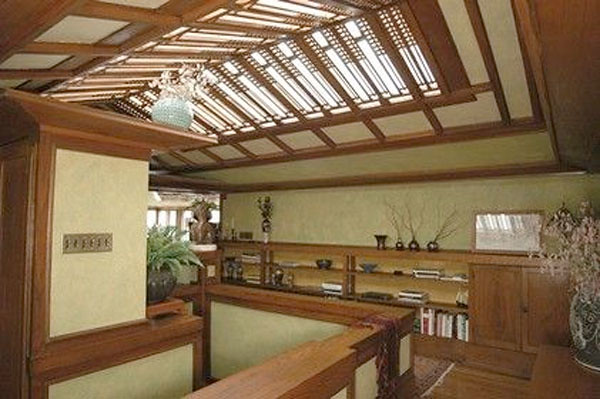 Loft inside Frank Lloyd Wright's Coonley House (Courtesy Baird & Warner)