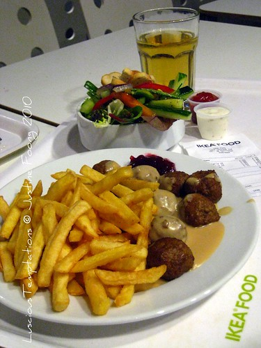 Swedish Meatballs, Fries, Side Salad and Sparkling Apple Juice - Ikea, Croydan