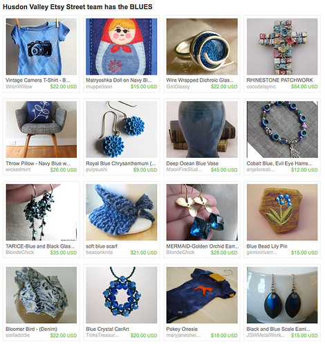 Husdon Valley Etsy Street team has the BLUES