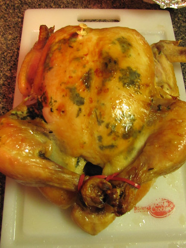 Roast Chicken with Herbed Compound Butter