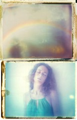 somewhere... (milkysoldier) Tags: portrait girl polaroid rainbow virginie 669 packfilm iduv roidweek torturedfilm roidweek2010