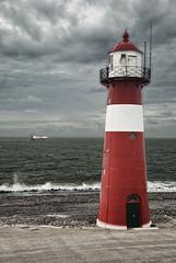 Lighthouse (Focusje (tammostrijker.photodeck.com)) Tags: sea lighthouse holland netherlands dutch surf waves ship north zeeland hdr westkapelle