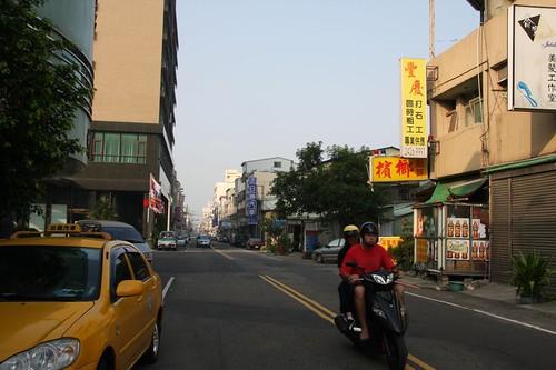 中信ホテルの付近を朝、散歩する