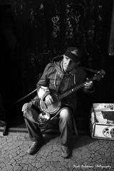 Coming from the street... (OualiBelahsene) Tags: street bw music algeria northafrica oldman nb instrument algerie rue musique algiers bonjo monochromie saviensdelarue comingfromstreet
