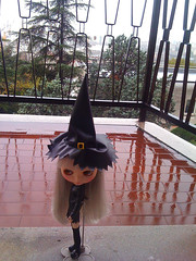 Witch in the rain