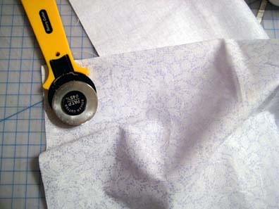 Cutting the fabric to size