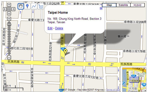 No. 169 Chung King North Road Section 3 - Map