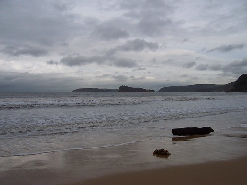 Lion Island, Barrenjoey Head & Pittwater from Ocean Beach Umina