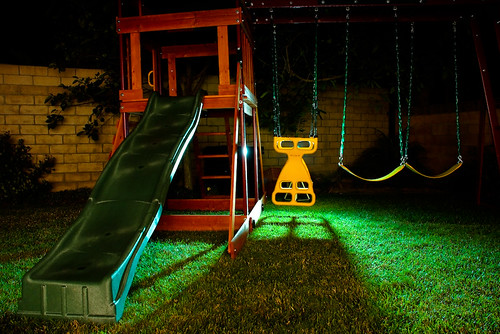 Swing Set at Night - Finally Finished!
