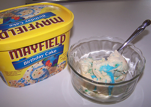 Mayfield Birthday Cake Ice Cream Oldest Photo