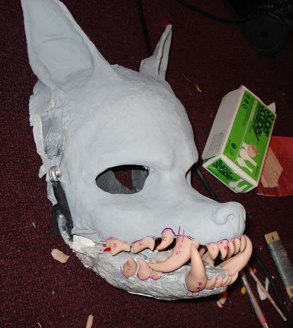 head teeth sculpey