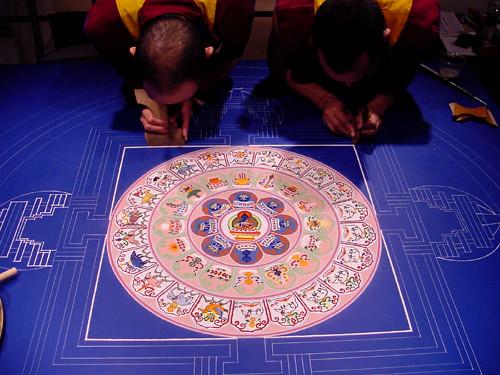Mandala de arena - Arte milenario