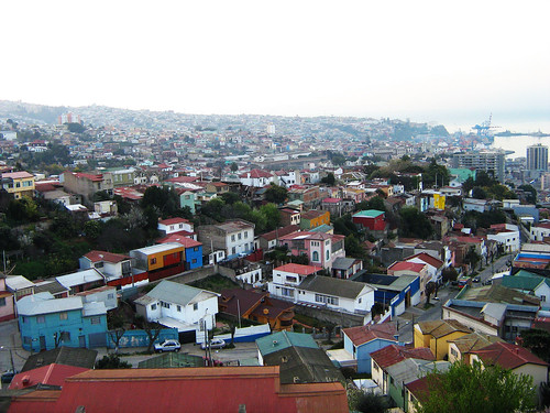 View of Valparaiso from the top of La Sebastiana