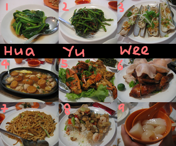 chinese restaurants. hua yu wee