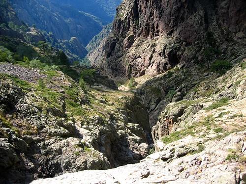 Le ravin du Fangu sous la grotte/cascade du Tafonatu