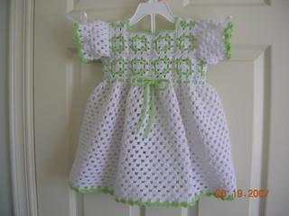 Free Crochet Granny Yoke Baby Dress Pattern