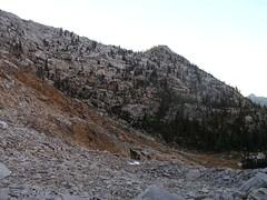 """Western """"wall"""" down the Cramer Lake trail"""