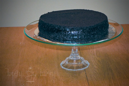 cake stand finished with cake