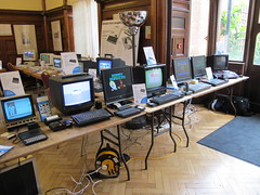 The Sinclair display. (Andys Retro Computers) Tags: spectrum computers amstrad sinclair zx81 bletchleypark zx80 vcf amsoft vintagecomputerfestival